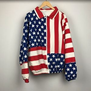 HOST PICK💎 Vintage American Flag Carabella Jacket